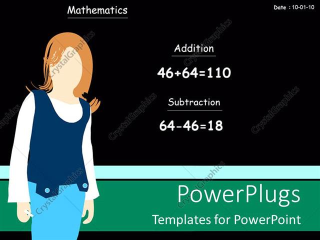 Powerpoint Template Classroom View Showing Teacher Standing Near