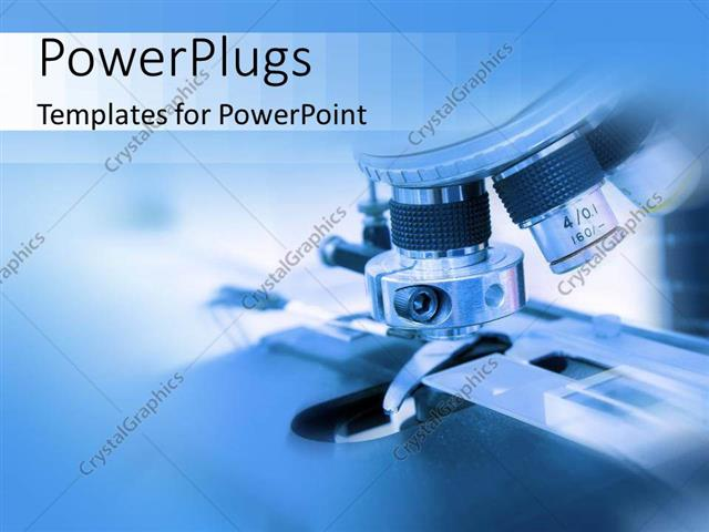 Powerpoint template close up of microscope in biology or medical powerpoint template displaying close up of microscope in biology or medical lab toneelgroepblik Choice Image