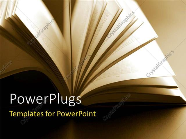 Powerpoint Template Close Up Shot Of Abstract Open Book