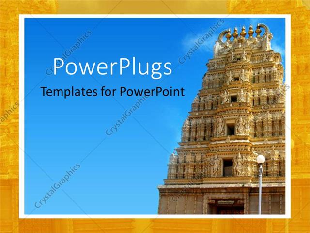 Powerpoint template close up of ancient indian temple under blue powerpoint template displaying close up of ancient indian temple under blue sky toneelgroepblik Image collections