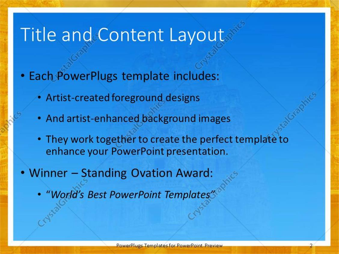 Powerpoint template close up of ancient indian temple under blue powerpoint products templates secure toneelgroepblik Images