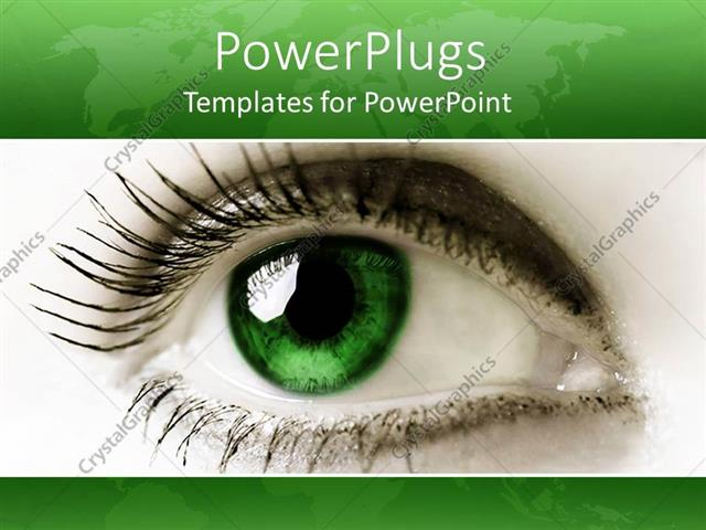 Powerpoint template close up female green eye green background powerpoint template displaying close up female green eye green background toneelgroepblik Images