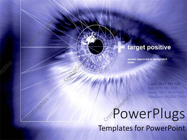 Powerpoint template close up of pupil of human eye with geometric powerpoint template displaying close up of pupil of human eye with geometric shapes on a blue background toneelgroepblik Images
