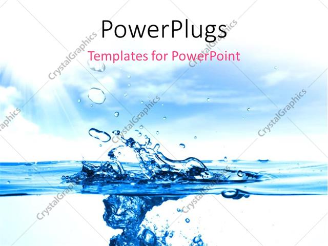 water ppt template