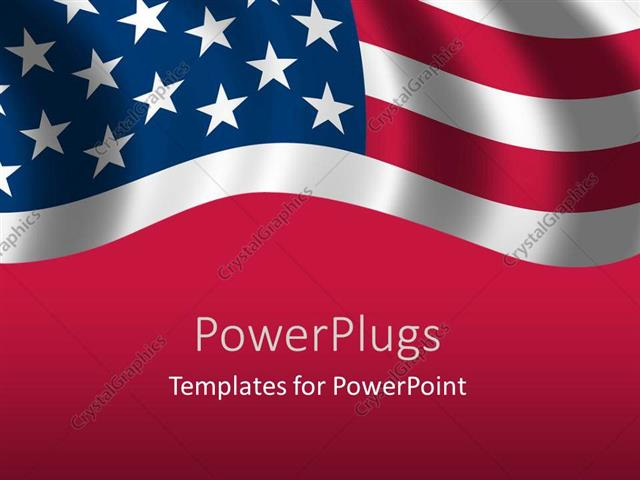 Powerpoint Template A Close Up View Of The Flag Of Usa 1646