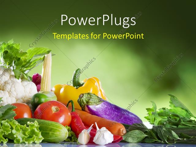 Powerpoint template close up view of nice fresh vegetables on powerpoint template displaying close up view of nice fresh vegetables on green textured background toneelgroepblik Image collections