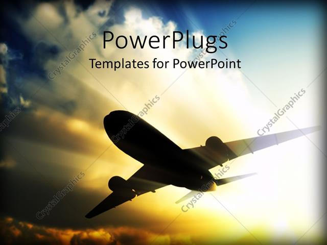 Powerpoint template a close up view of a plane flying over a bright powerpoint template displaying a close up view of a plane flying over a bright sky toneelgroepblik Choice Image
