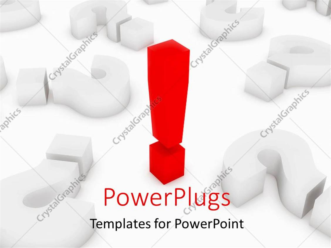 PowerPoint Template Displaying a Close Up View of a Red Colored Exclamation Mark