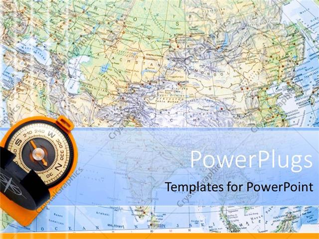Powerpoint template a close up view of the world map with a compass powerpoint template displaying a close up view of the world map with a compass gumiabroncs Images