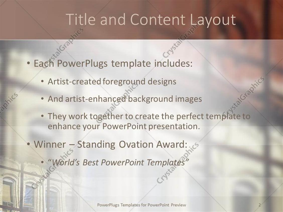PowerPoint Template: Close up of windows of building with Victorian ...