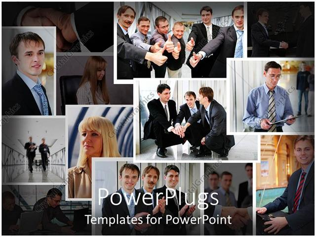 powerpoint template a collage of business colleagues 5558