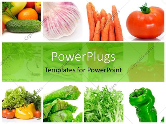 Powerpoint template collage of depictions of different vegetables powerpoint template displaying collage of depictions of different vegetables toneelgroepblik Image collections