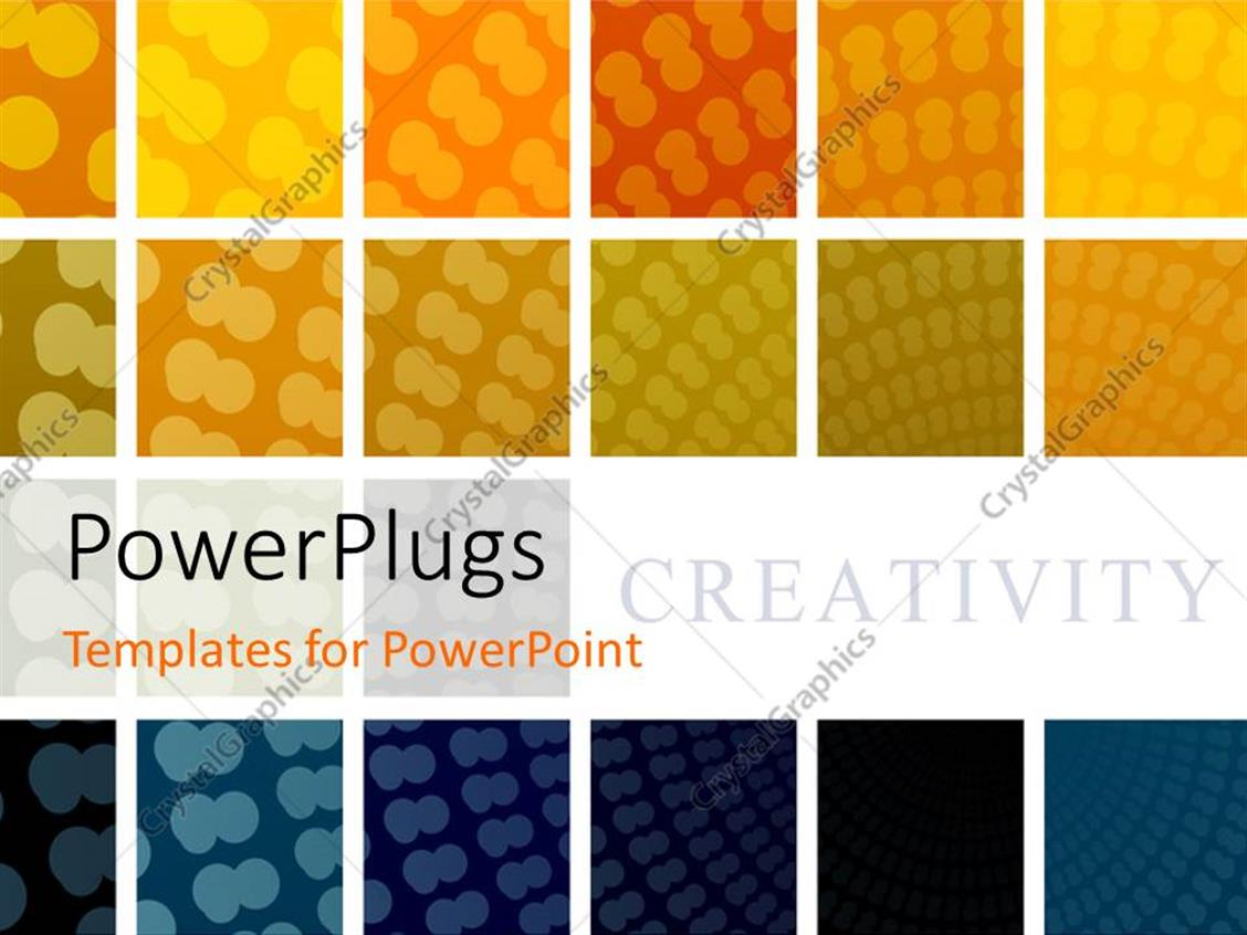 PowerPoint Template Displaying Collage of Repeating Patterns in Varying Colors