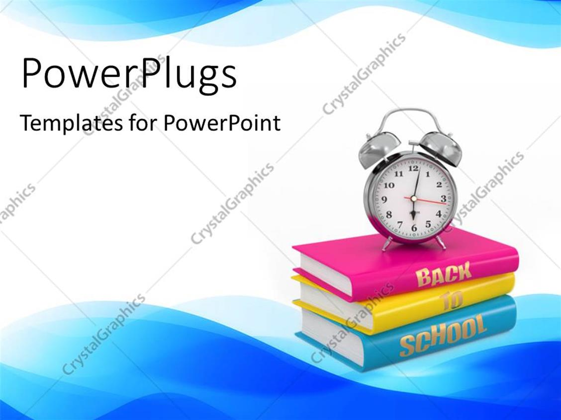 PowerPoint Template Displaying a Collection of Books with White Background