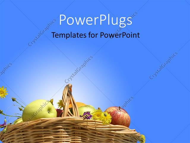 Powerpoint template collection of different healthy fruits in powerpoint template displaying collection of different healthy fruits in basket on blue background toneelgroepblik Gallery