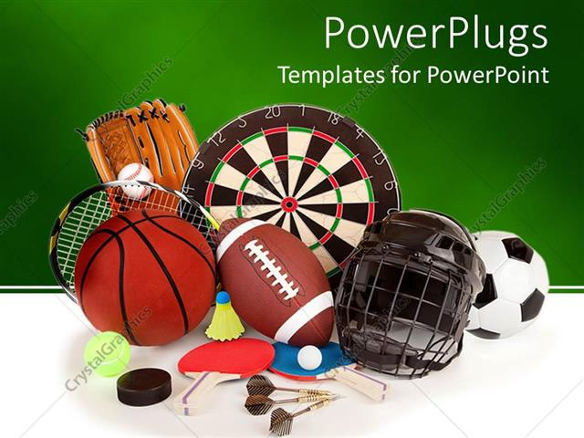 powerpoint template  a collection of a number of sports
