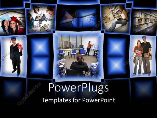 powerpoint template college graduation student success education