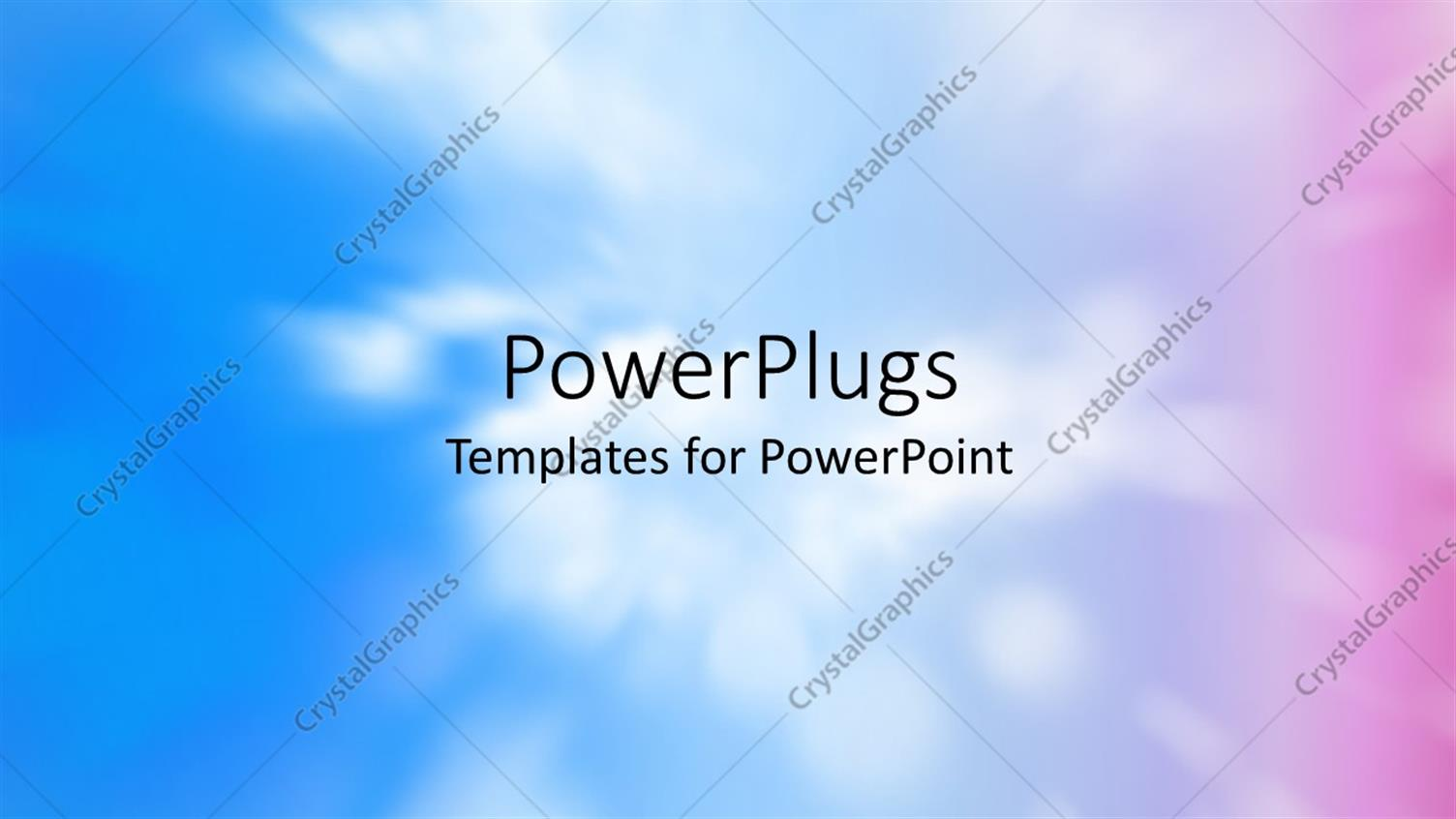 PowerPoint Template Displaying Colorful Abstract Decorative Background Shot Using the Zoom Effect of Clouds in the Sky