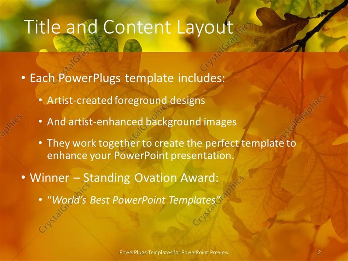 Powerpoint template colorful autumn leaves on a tree on a colorful powerpoint products templates secure toneelgroepblik Images