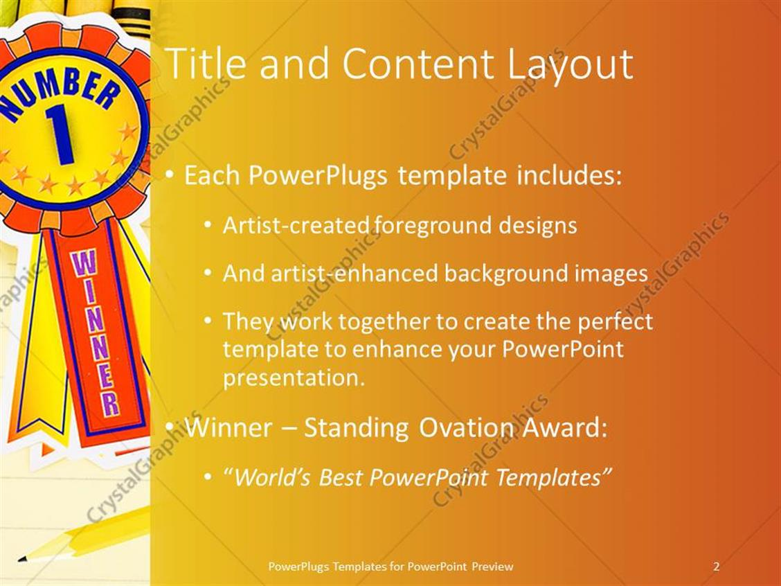 Powerpoint template colorful crayons on lined paper with pencil and powerpoint products templates secure toneelgroepblik Gallery