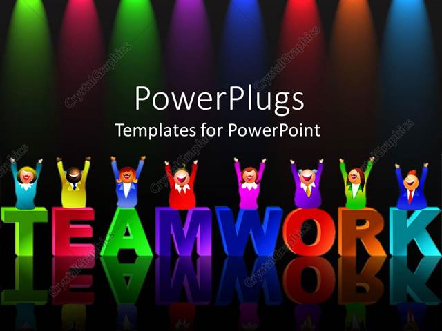 Powerpoint template colorful letters form word teamwork with powerpoint template displaying colorful letters form word teamwork with reflection on black background toneelgroepblik Images