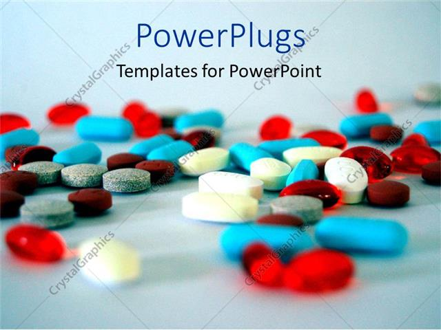 Powerpoint Template Colorful Medical Pills And Capsules On