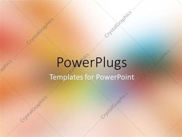 Powerpoint Template Colorful Multi Colored Defocused Abstract