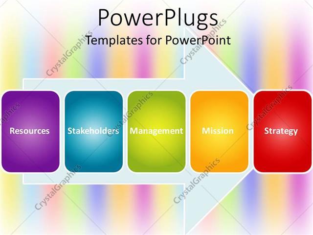 Powerpoint template colorful tiles on arrow showing words powerpoint template displaying colorful tiles on arrow showing words resources stakeholders toneelgroepblik Choice Image