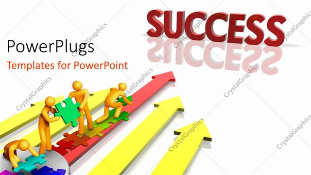 Powerpoint template depiction of team working together towards powerpoint template displaying depiction of team working together towards success over white surface toneelgroepblik Images
