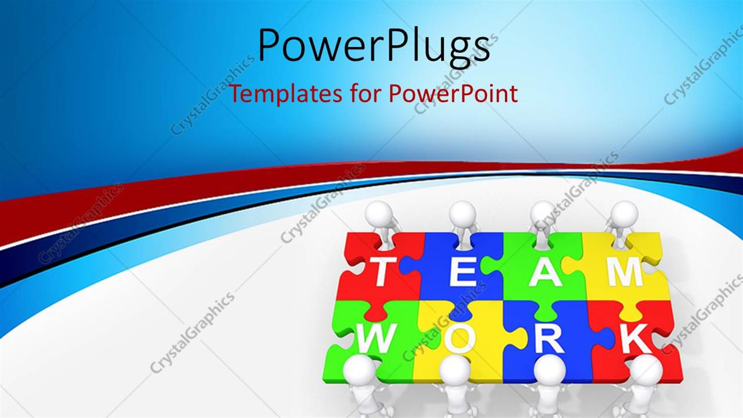 PowerPoint Template Displaying Multi Colored Puzzles with a Text that Spell Out the Words