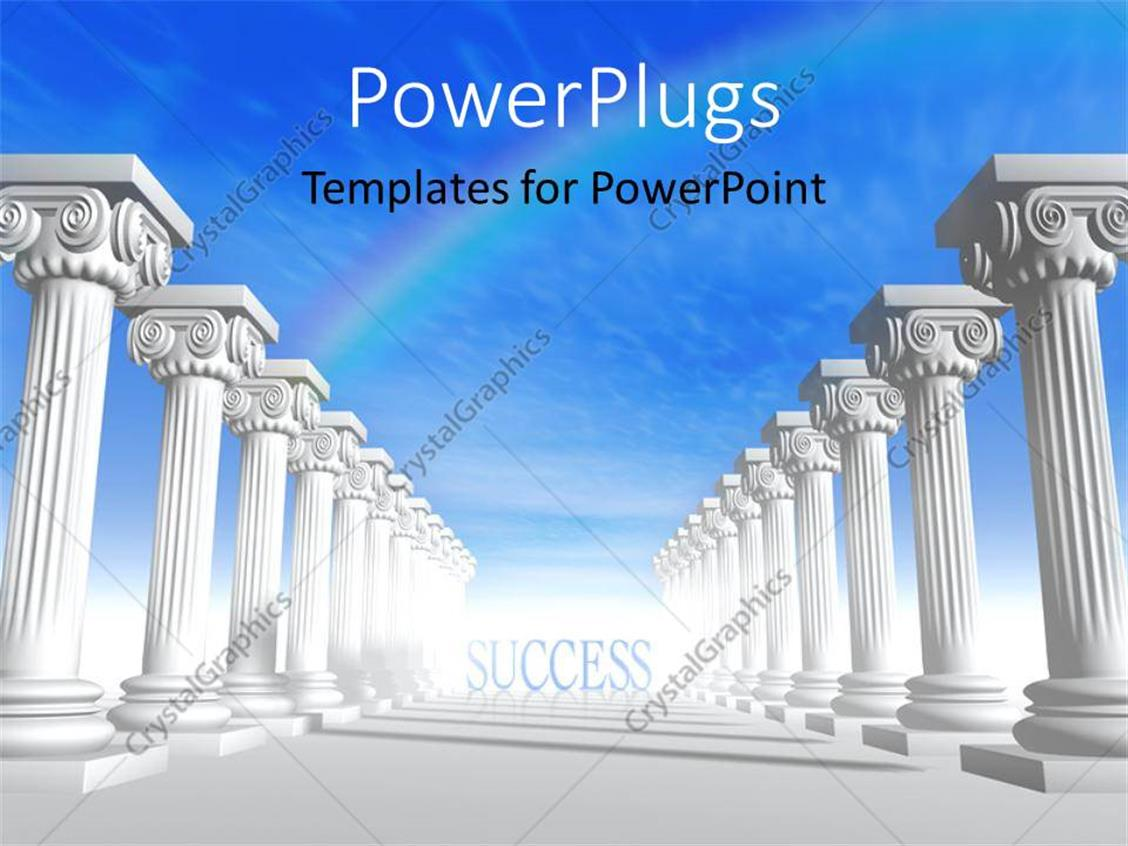 Powerpoint Template Conceptual Iconic Style Greek Architecture With