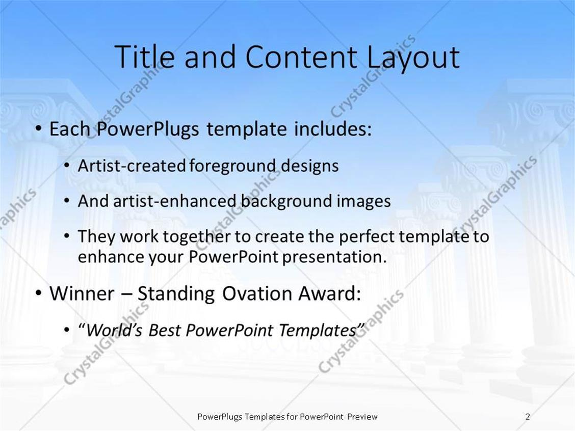 Powerpoint template conceptual iconic style greek architecture with powerpoint products templates secure toneelgroepblik Images