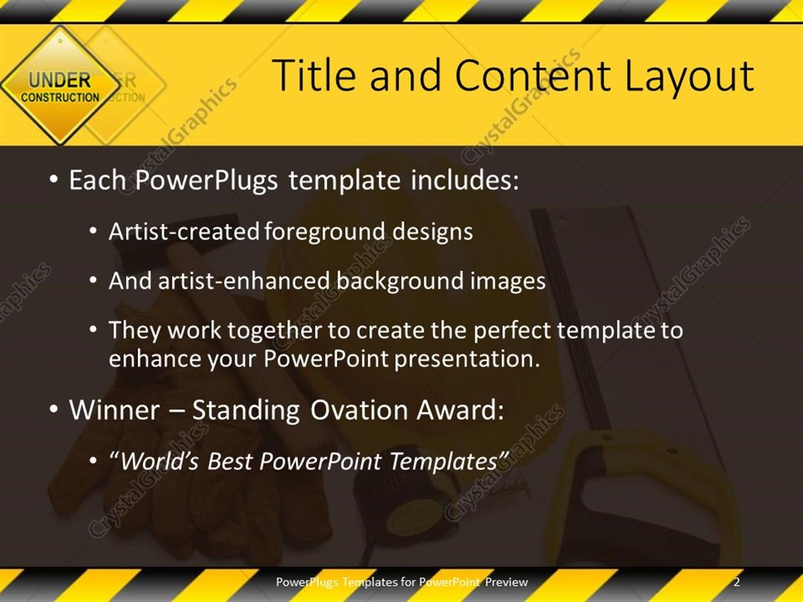 Construction powerpoint template image collections templates powerpoint template constructing tools with under construction powerpoint products templates secure alramifo image collections alramifo Images