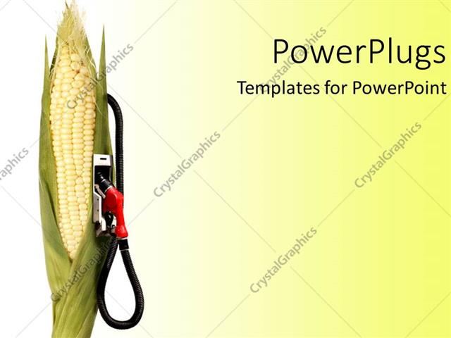 PowerPoint Template: cornstalk with gas pump attached on it, on ...
