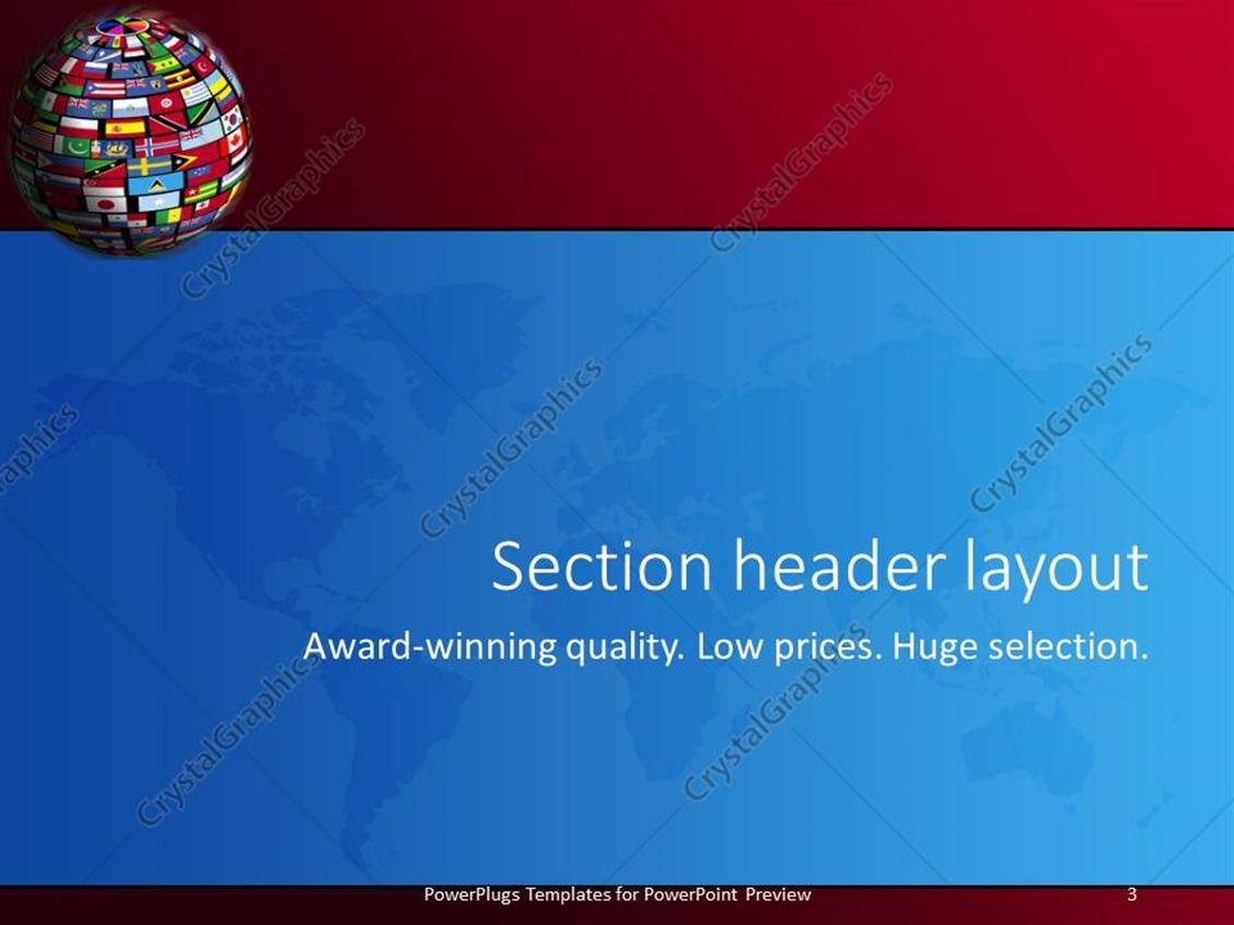 Powerpoint template country flags cover the world for all nations powerpoint products templates secure toneelgroepblik Images