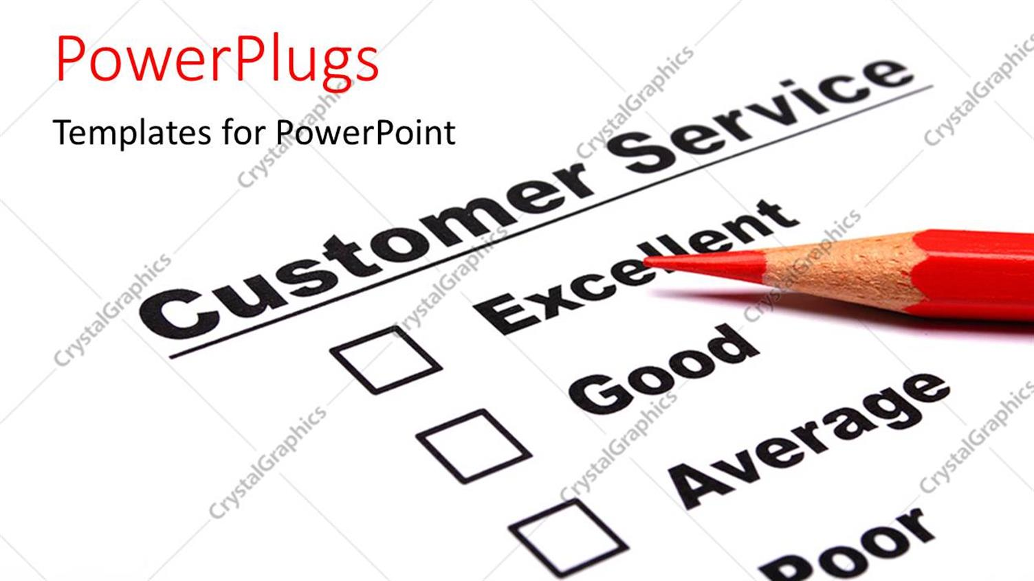 Best powerpoint survey template ideas entry level resume templates powerpoint template a color pencil and a customer service document toneelgroepblik Gallery