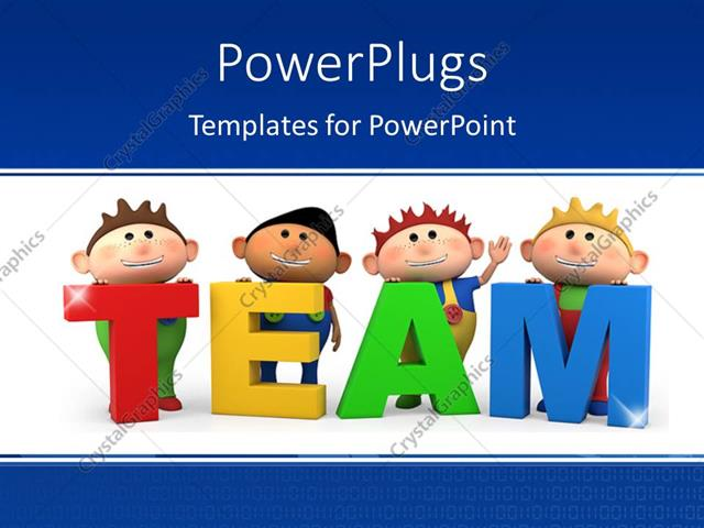 Powerpoint template cute little 3d cartoon boys with team letters powerpoint template displaying cute little 3d cartoon boys with team letters toneelgroepblik Gallery