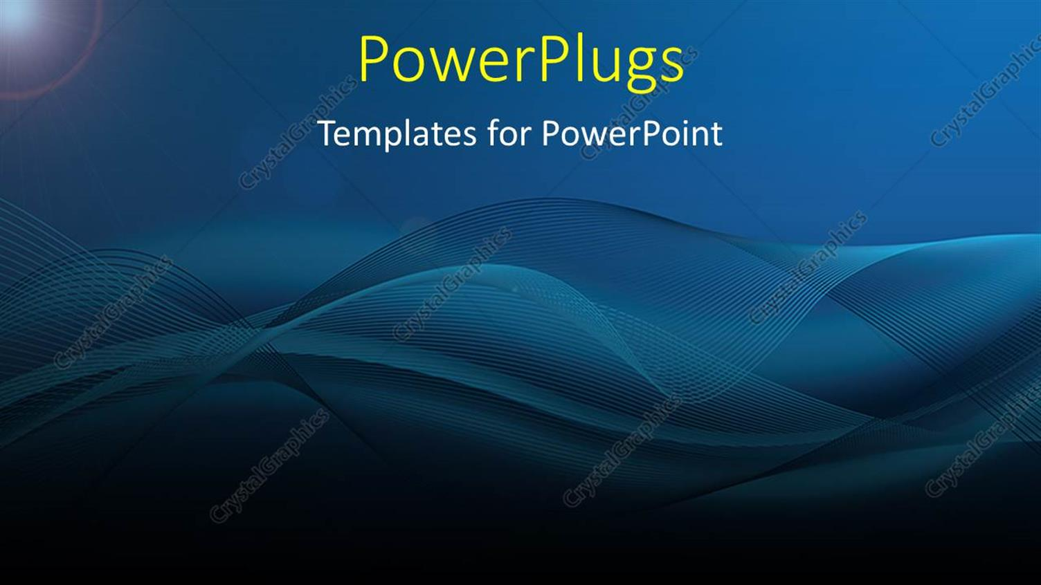 Powerpoint Template A Plain Blue Colored Background With Swirly
