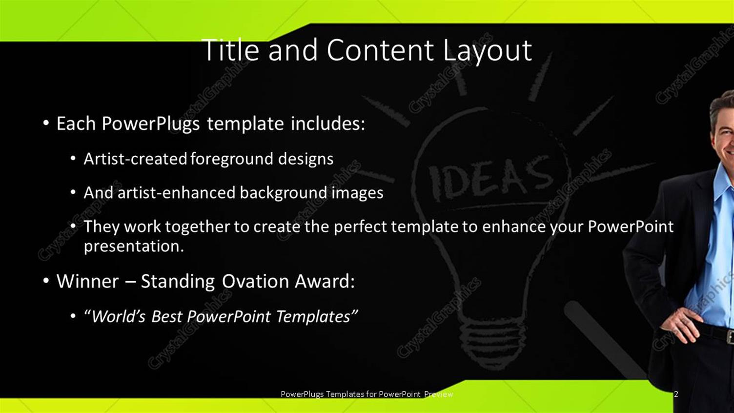 Powerpoint template light bulb depicting bright idea on chalkboard powerpoint products templates secure toneelgroepblik Gallery