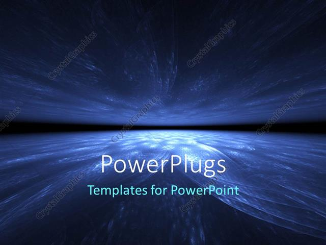 PowerPoint Template Displaying a Dark Lit Blue and Black Earth Globe Background