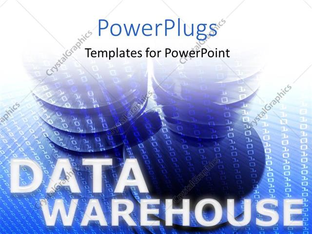 PowerPoint Template: Data storage devices with series of binary