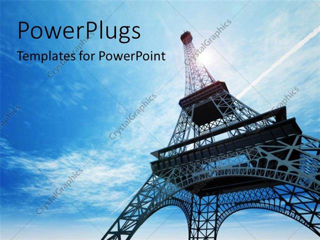 Powerpoint Template A Day Time View Of The Eiffel Tower In Paris