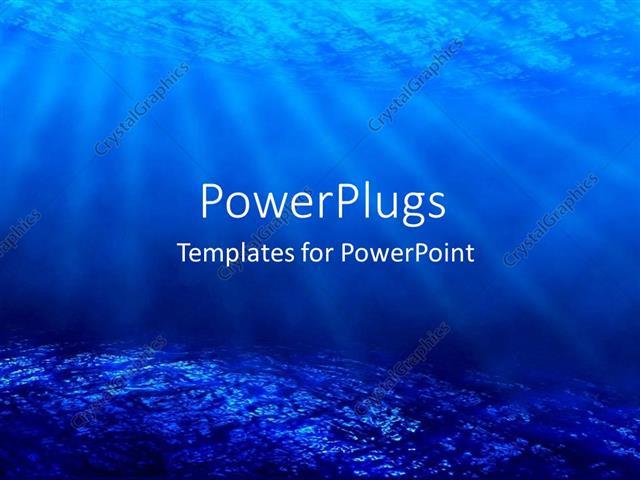 Powerpoint template deep sea diving with blue coral ocean and sun powerpoint template displaying deep sea diving with blue coral ocean and sun rays as a metaphor toneelgroepblik Gallery
