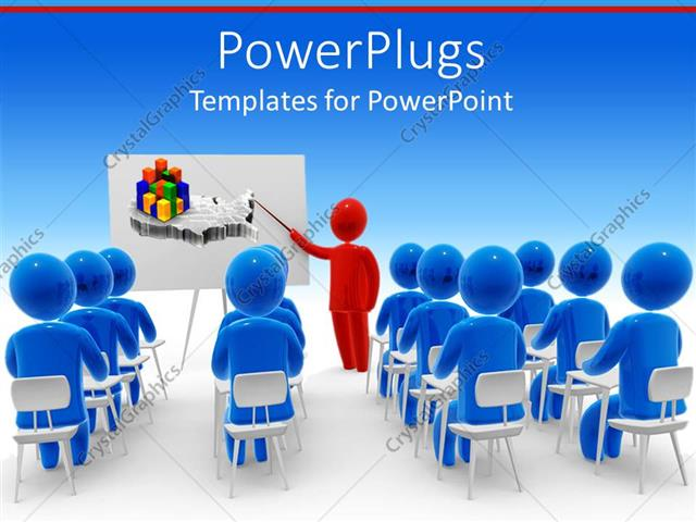 Powerpoint Template A Depiction Of A Classroom With A Teacher