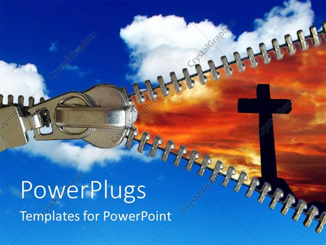 Powerpoint Template A Depiction Of Clouds And The Holy