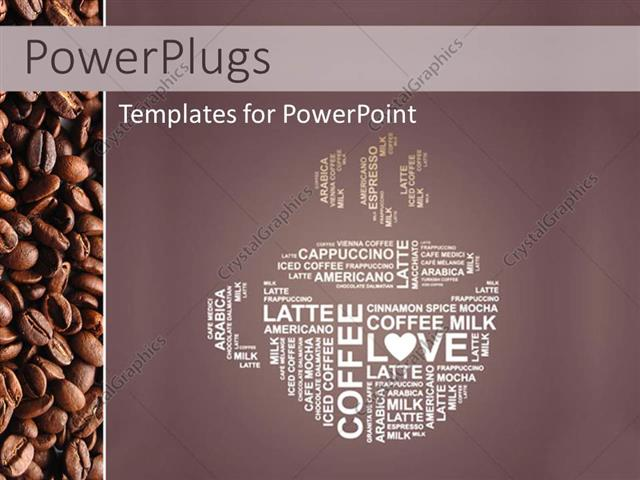 Powerpoint template depiction of coffee cup with coffee in powerpoint template displaying depiction of coffee cup with coffee in different languages toneelgroepblik Image collections