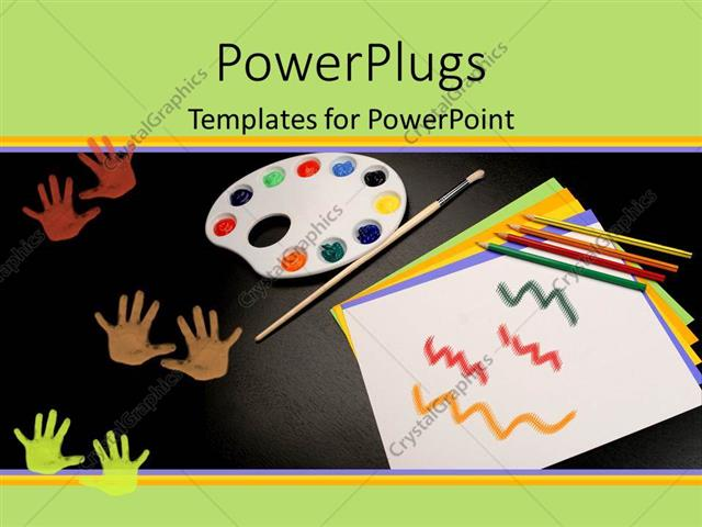 Powerpoint template depiction of common art supplies like pencils powerpoint template displaying depiction of common art supplies like pencils paint pad toneelgroepblik Image collections