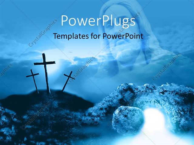 PowerPoint Template: Depiction Of Crucifixion And