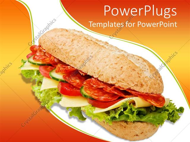 powerpoint template the depiction of a delicious sandwich with a