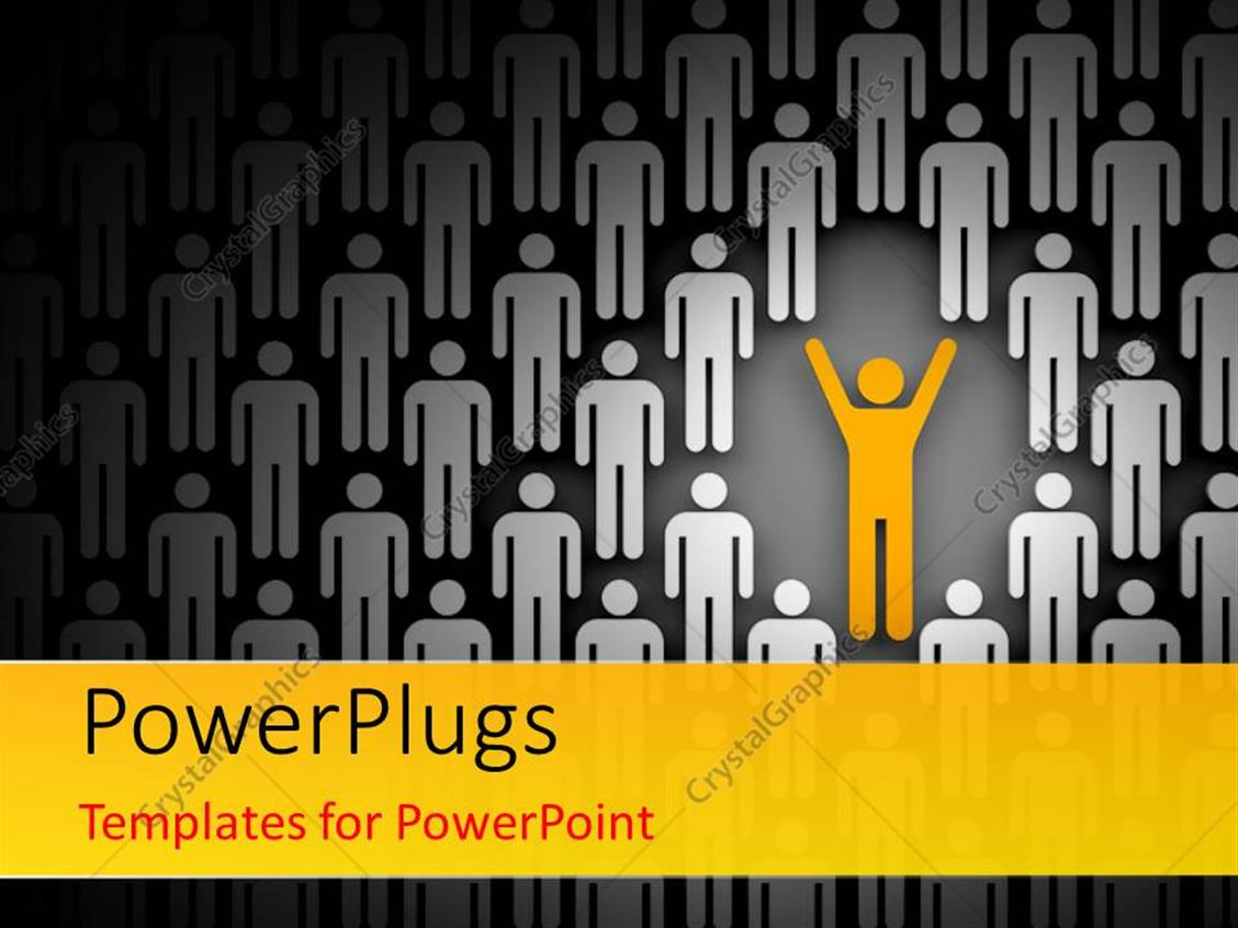 Great leadership powerpoint template contemporary professional powerpoint template depiction of leadership with yellow man with alramifo Images